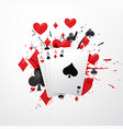 four aces poker card vector image vector image