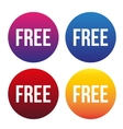 Free button for web set vector image vector image
