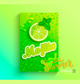 fresh lime juice vector image vector image