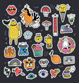 fun sticker collection vector image vector image