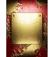 gold on red background vector image