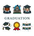 graduation vector image vector image