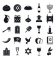 hanukkah menorah icon set simple style vector image vector image
