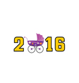 happy new year baby 2016 color vector image vector image