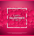 happy valentines day design with heart on shiny vector image vector image