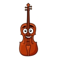 Happy wooden violin with a big smile vector image vector image