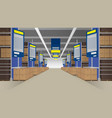 hypermarket inside with empty spaces vector image