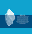 iceberg above and under water north sea poster vector image vector image