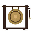 isolated gong icon musical instrument vector image