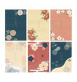 japanese template floral decoration background vector image vector image