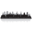 Leeds city skyline silhouette vector image vector image