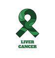 liver cancer awareness papercut ribbon vector image vector image