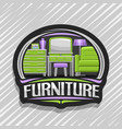 logo for furniture vector image vector image