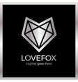 love fox logo vector image vector image