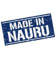 made in nauru stamp vector image vector image