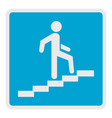 man climbing the stairway icon flat style vector image