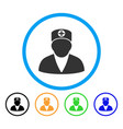 medic person rounded icon vector image vector image