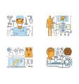 medical centre website vector image vector image