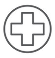 medical point line icon medicine and hospital vector image vector image