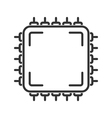 Microchip line icon vector image vector image