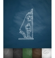 military pedestal icon Hand drawn vector image vector image