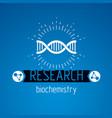 model of human dna double helix bioengineering vector image