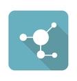 Molecule icon square vector image