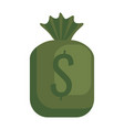 money bag isolated icon vector image