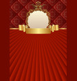 old-fashioned background with decorative frame and vector image vector image