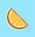 orange segment marmalade icon sweets sticker vector image