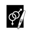 paper with male and female symbol vector image vector image