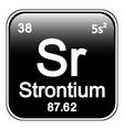 Periodic table element strontium icon vector image vector image