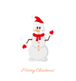 Postcard Snowman on white background vector image