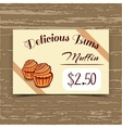 Price Tag Design Muffins vector image vector image
