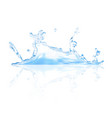 realistic blue water splash icon eps10 vector image vector image