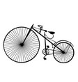 retro bicycle silhouette icon isolated on white vector image vector image