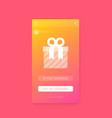 reward gift app mobile ui design vector image