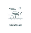 savannah line icon linear concept outline vector image