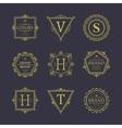 set badges old school vintage banners vector image vector image