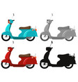 set of classic scooter vector image vector image