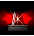 Siren Icon Red Emergency Flash Car Alarm Symbol vector image
