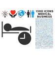 sleep time icon with 1300 medical business icons vector image vector image