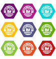 smart printing service icons set 9 vector image