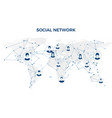 social media graphic global network connection vector image vector image