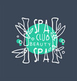 spa club beauty logo badge for wellness yoga vector image vector image