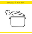 steaming pot linear icon vector image