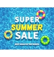 summer sale background with swimming pool vector image vector image
