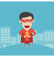 Super money man for business and finance concept vector image vector image