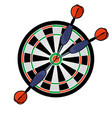 target with darts vector image vector image