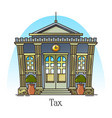 tax office or department in thin line architecture vector image vector image